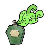 Retro kreslený parfémy láhev — Stock vektor