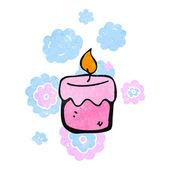 Retro cartoon scented candles — Stock Vector