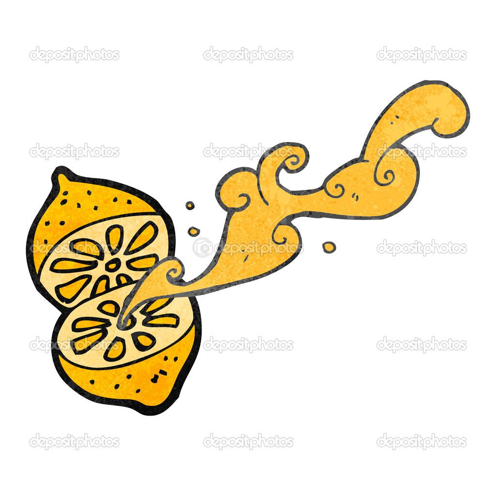 复古卡通喷柠檬 — 矢量图片作者