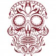 Stock Vector: Day of the dead skull pattern