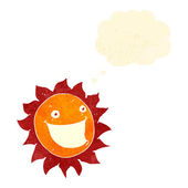 Retro cartoon happy sun — Stock Vector