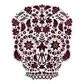 死んだスカル デザインの日 — ストックベクタ