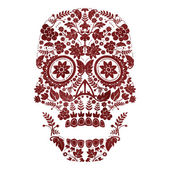 Day of the dead skull design — Stock Vector
