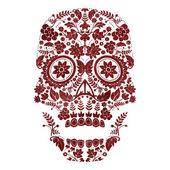 Dag van het ontwerp van de dood schedel — Stockvector