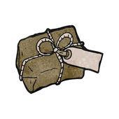 ретро мультфильм посылки — Cтоковый вектор