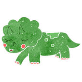 Retro cartoon triceratops — Stock Vector