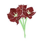Illustration de fleurs rétro — Vecteur