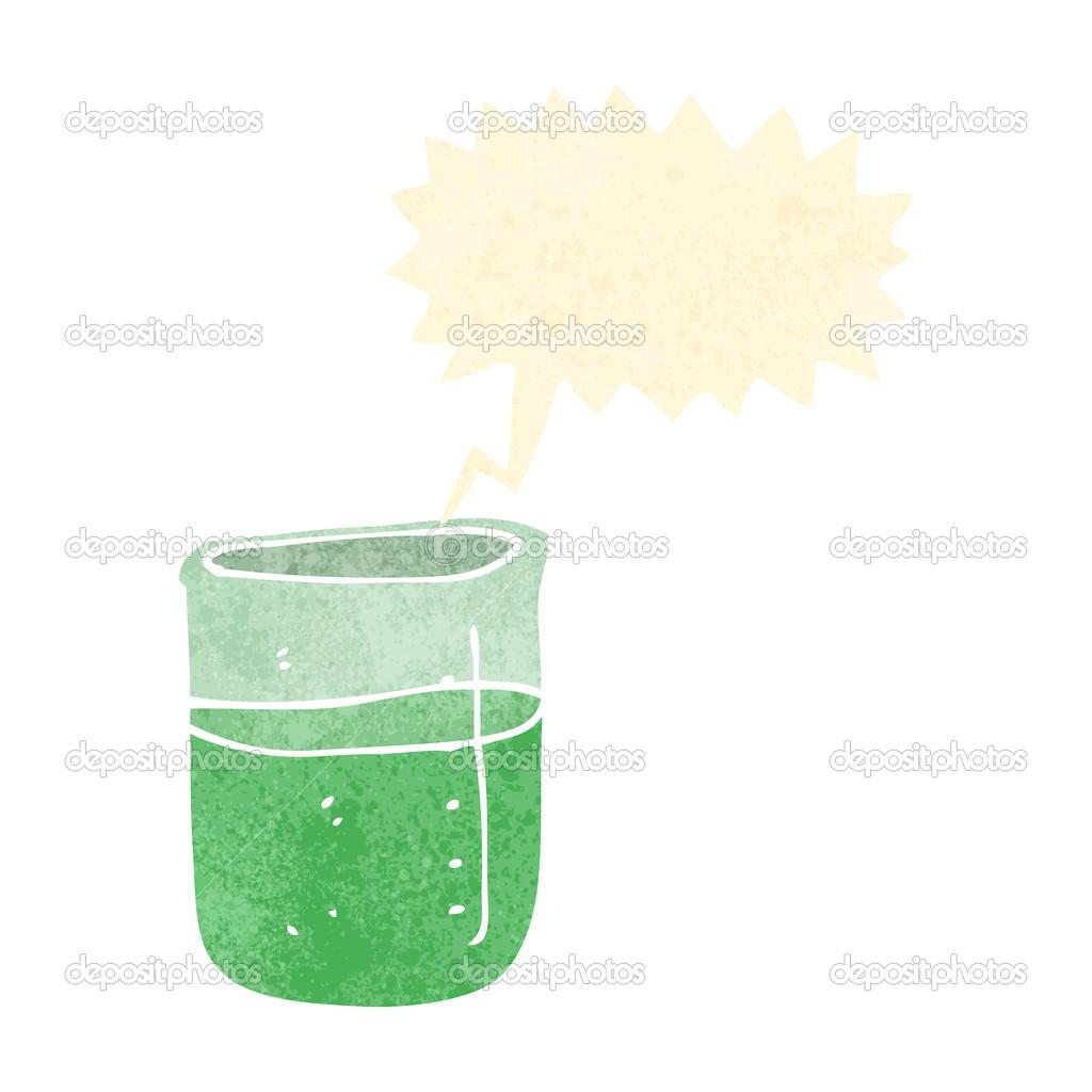复古卡通冒泡化学品 — 矢量图片作者 lineartestpilot