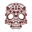 Day of the dead skull — Stock Vector