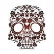 Day of the dead skull — Vettoriali Stock