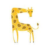 Retro cartoon giraffe — Stock Vector