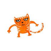 Cartoon cat fighting — Stock Vector