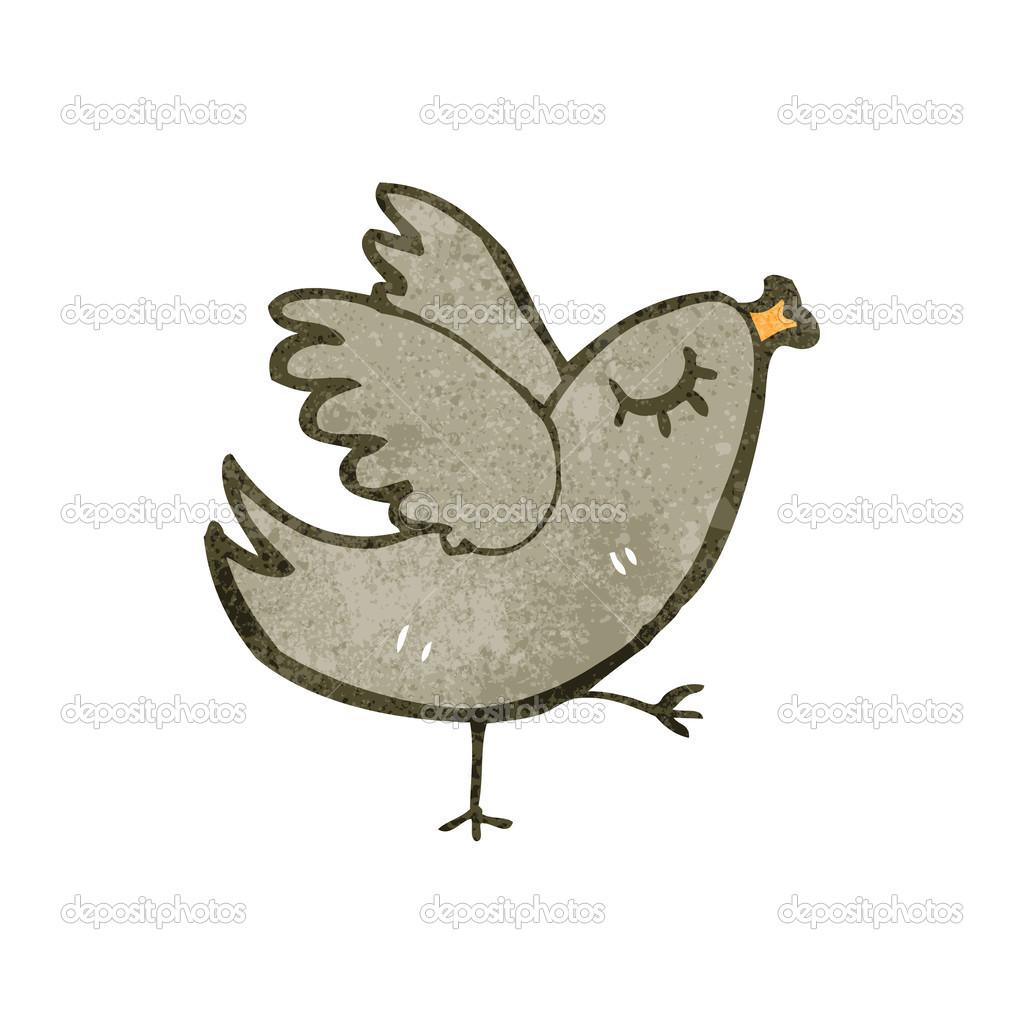 复古卡通鸟