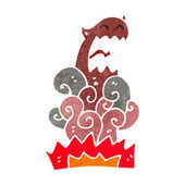 Retro cartoon devil appearing — Stock Vector