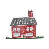 Retrò del fumetto poco vecchia casa — Vettoriale Stock