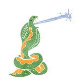 Retro cartoon hissing snake — Stock Vector