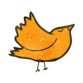 Retro cartoon bird flapping wings — Stock Vector