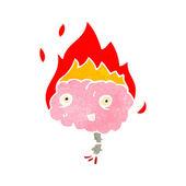 Cartone animato retrò di emicrania mal di testa — Vettoriale Stock