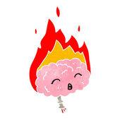 Migraine headache retro cartoon — Stock Vector