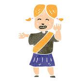 Retro karikatür yararlı kız kılavuzu — Stok Vektör