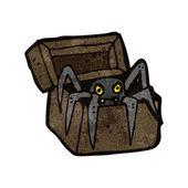 Retro tecknade monster i rutan — Stockvektor