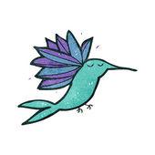 Retro cartoon hummingbird — Stock Vector