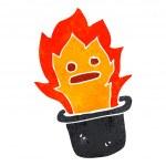 Cartoon magic flaming top hat — Stock Vector #29101095