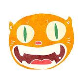 Cat head cartoon — Stock Vector