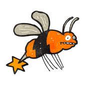 Cartone animato la piccola ape — Vettoriale Stock