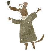 прохладный французский собака мультфильм — Cтоковый вектор