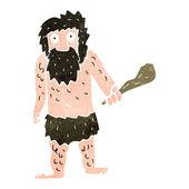 Kreslený jeskynní muž — Stock vektor
