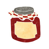 Cartoon marmelade pot — Stockvector
