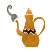 Cartoon coffee pot — Stock Vector