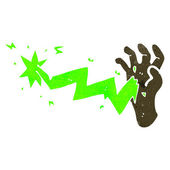 Cartoon zombie hand — Stockvector