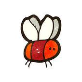 Little bee cartoon — Stock Vector