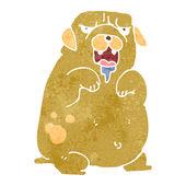 Retro cartoon big dog — Vecteur