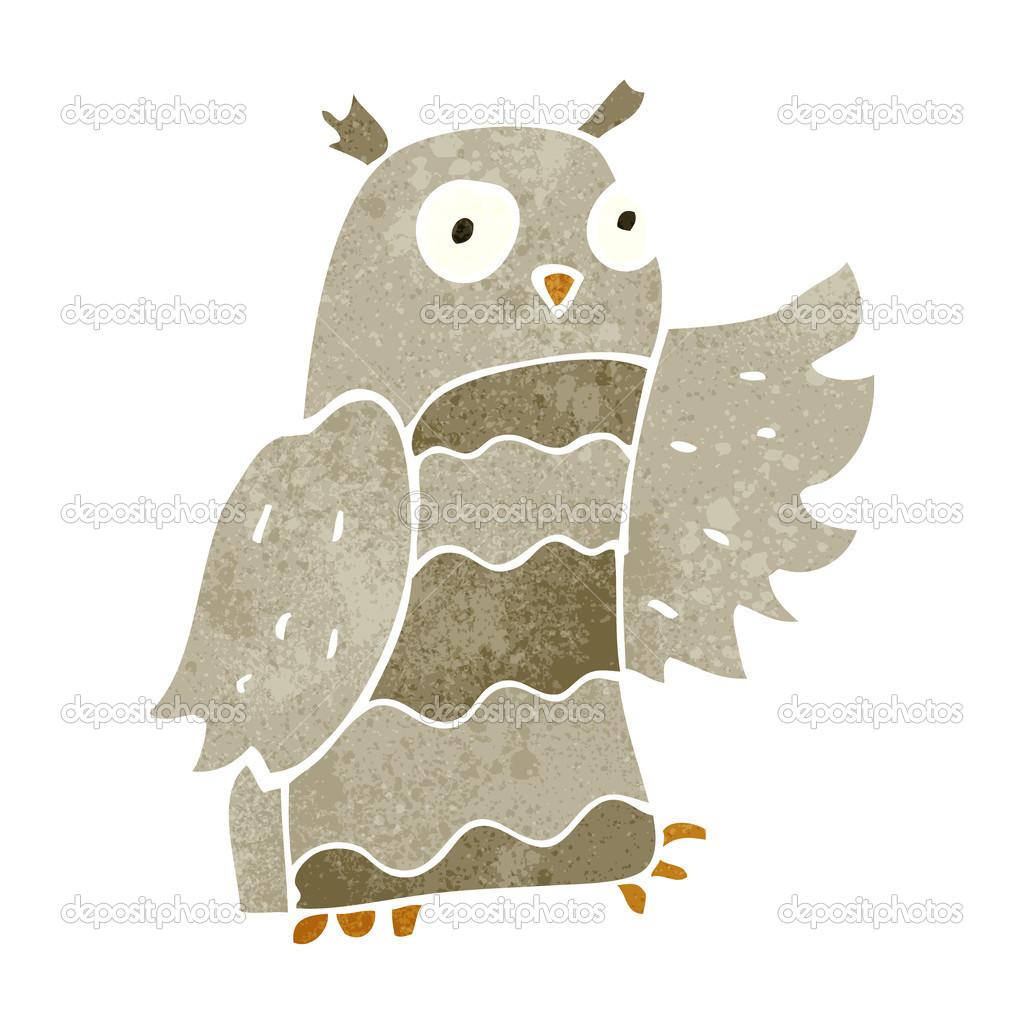 Retro owl cartoon - photo#6