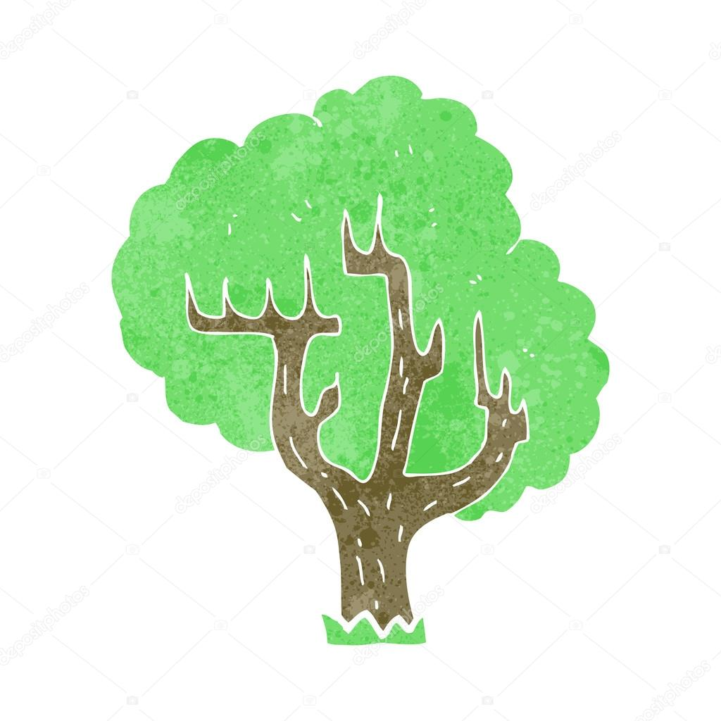 复古卡通树