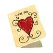 Vector de stock : Valentine card cartoon