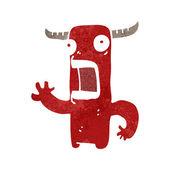 Retro cartoon crazy monster — Stock Vector