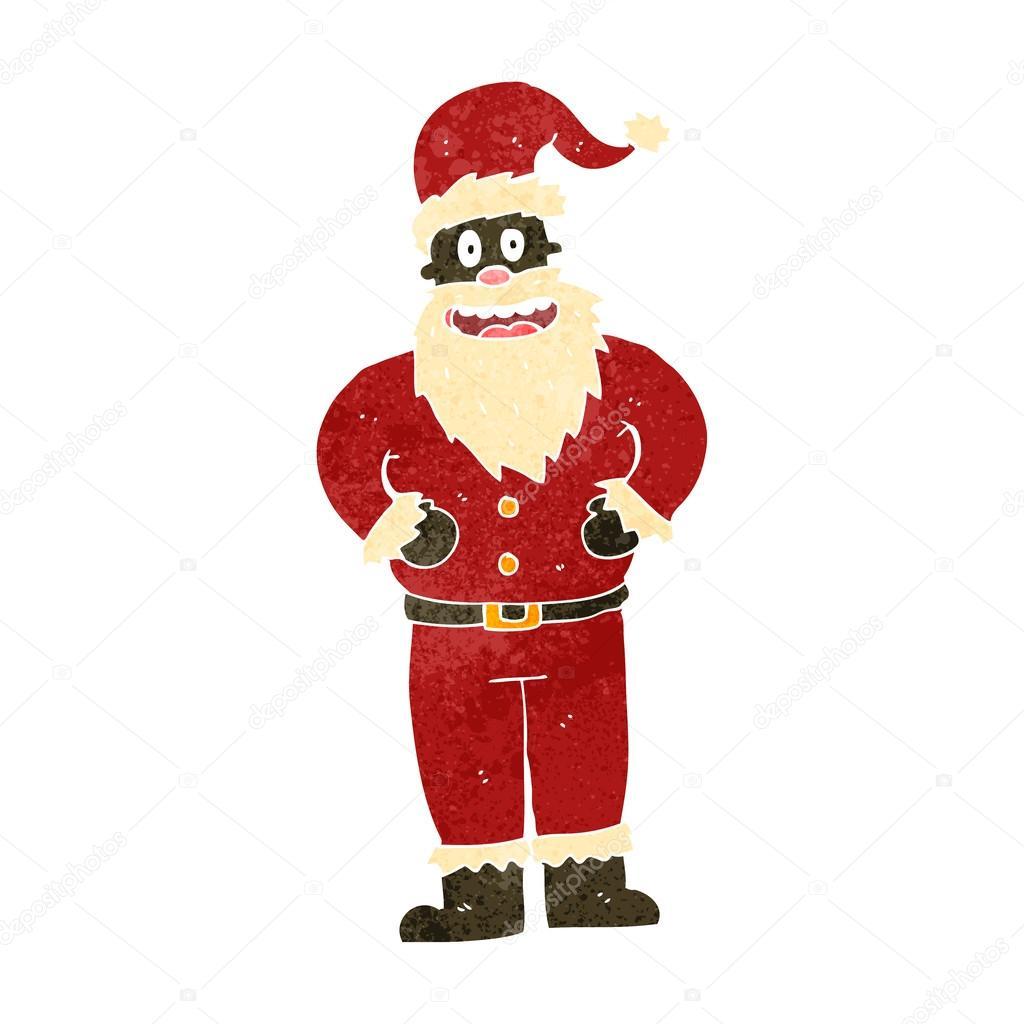 Cartoon santa claus costume — stock vector