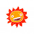 Retro cartoon sun — Stock Vector