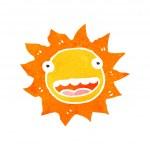 Retro cartoon sun with face — Stock Vector #29165187