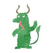 Retro kreskówka potwór przyjazny — Wektor stockowy