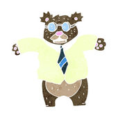 Retro cartoon angry bear boss — Wektor stockowy