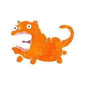 Retro cartoon ginger cat — Stock Vector