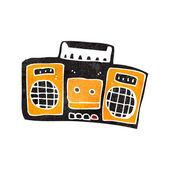 Radio retrò dei cartoni animati — Vettoriale Stock