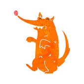Retro cartoon fox — Stock Vector