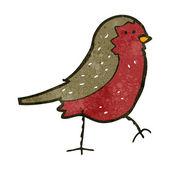 Retro cartoon bird — Stock Vector