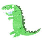 Retro cartoon dinosaur — Stock Vector